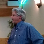 Peter Kirkup speaks to the American River Democrats