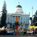 A recent anti-fracking rally at the state capital